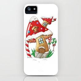 Mushroom gingerbread house iPhone Case