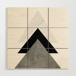 Arrows Monochrome Collage Wood Wall Art