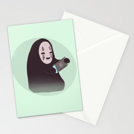 Cute no face  Stationery Cards