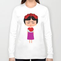 frida kahlo Long Sleeve T-shirts featuring Frida Kahlo by Creo tu mundo