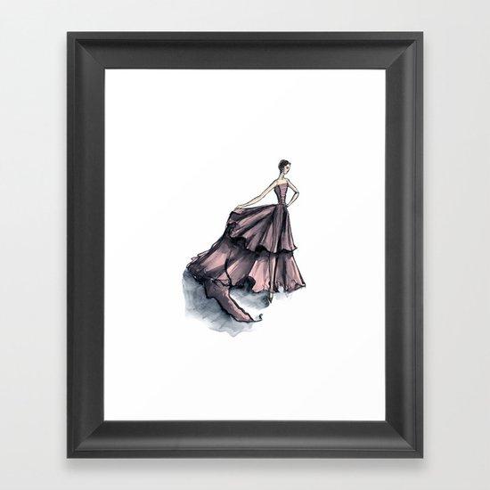 Audrey Hepburn in Pink dress vintage fashion Framed Art Print