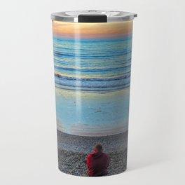 Cromer Beach, U.K at Sunset Travel Mug