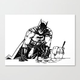 Cleaning up Gotham City Canvas Print