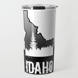 Idaho: Black & White Travel Mug