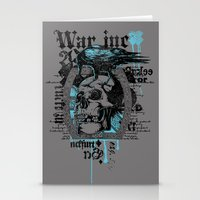 monster inc Stationery Cards featuring War inc. by Tshirt-Factory