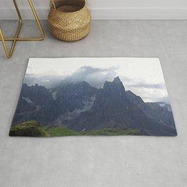 Alps Mountains Black Peaks Landscape Rug
