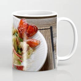 Steamed whole Maine lobster with fresh garnishes Coffee Mug