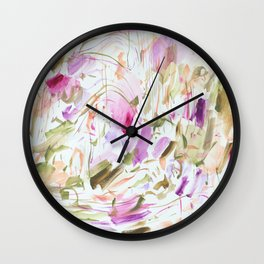 Hydrangea Garden Wall Clock