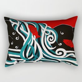 Spawning at Skoags Creek Rectangular Pillow