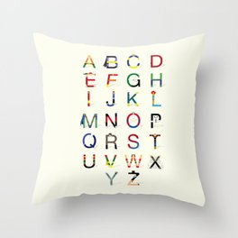 ABC SH (Option 2) Throw Pillow