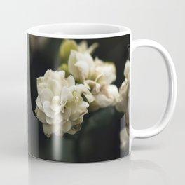 White Floral Art Coffee Mug