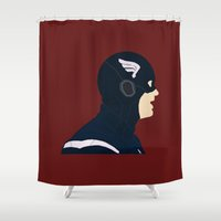 captain silva Shower Curtains featuring Captain by Swell Dame