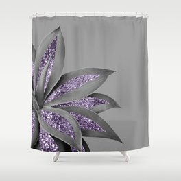Agave Finesse Glitter Glam #4 #tropical #decor #art #society6 Shower Curtain