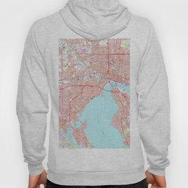 Vintage Map of Jacksonville Florida (1964) Hoody