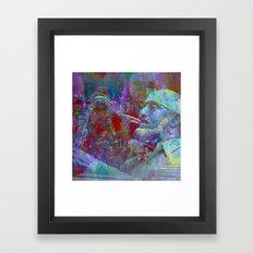 blues on the pavement Framed Art Print
