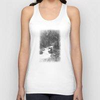 archan nair Tank Tops featuring Whiteout Yosemite-2 by Deepti Munshaw
