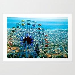 Barcelona city view Art Print