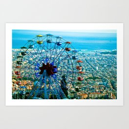 Barcelona city view Art Print