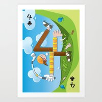 Fore of Clubs Art Print