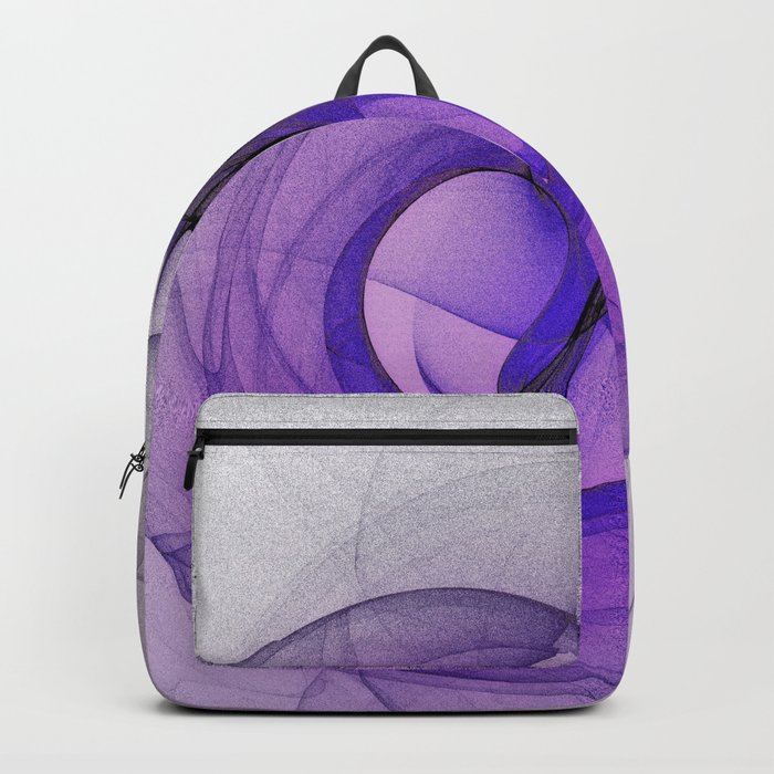 Mystery purple abstract fractal Backpack