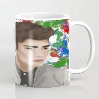 1d Mugs featuring Zayn 1D by Maranda Rae