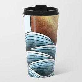 Golden Ocean Sunset Travel Mug