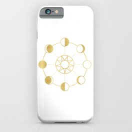 Gold Moon and Sun Phases iPhone Case