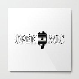 Open Mic Night Metal Print