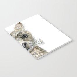 Alpaca eating Daisies Notebook