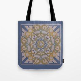 Gender Equality Mandala - Blue Ochre Tote Bag