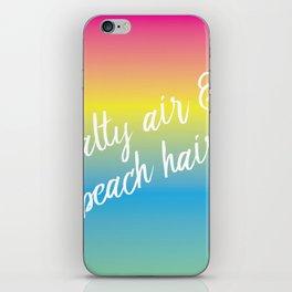 Salty Air & Beach Hair - Rainbow Ombre iPhone Skin