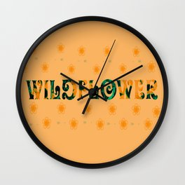 Tom Petty Wildflower Wall Clock