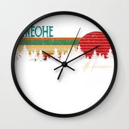 kaneohe Hawaii Retro Vintage Custom Funny Wall Clock