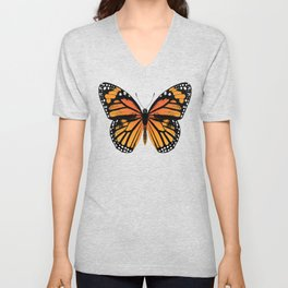 Monarch Butterfly Unisex V-Neck
