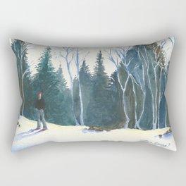 Red Beanie Rectangular Pillow