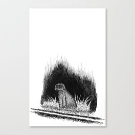 ghost dog Canvas Print