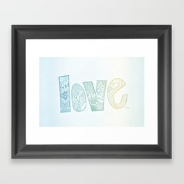 love is all you need. (ombre) Framed Art Print
