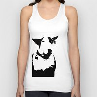 bull terrier Tank Tops featuring English Bull Terrier by Alex Birch