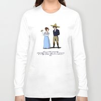pride and prejudice Long Sleeve T-shirts featuring Pride and Prejudice and Tacos by mikaelak