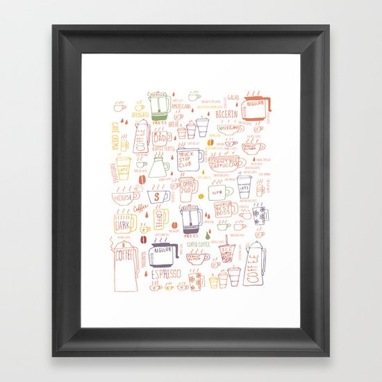 COFFEE IS DIVERSE Framed Art Print