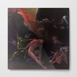 """Hieronymus Bosch """"Visions from the Hereafter - The River to Hell"""" Metal Print"""