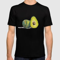 Avocados Mens Fitted Tee MEDIUM Black