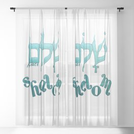 SHALOM The Hebrew word for Peace! Sheer Curtain