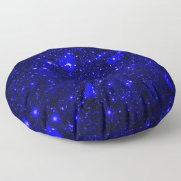 Dark Matter Galaxy Blue Floor Pillow