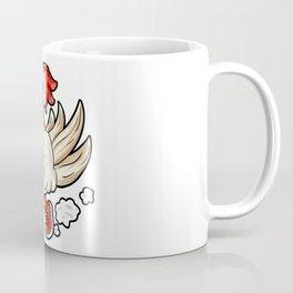 Running Rooster Cock Chicken Marathon Runner Gift Coffee Mug