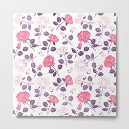 Beautiful Modern Flowers Pattern Art Metal Print
