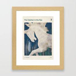 J. D. Salinger's The Catcher in the Rye - Literary book cover design Framed Art Print