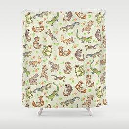 Spring geckos Shower Curtain