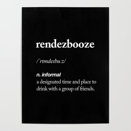 Rendezbooze black and white contemporary minimalism typography design home wall decor black-white Poster