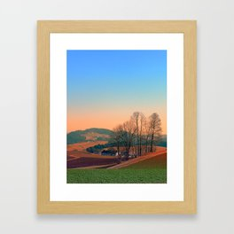 Trees, panorama and sunset | landscape photography Framed Art Print
